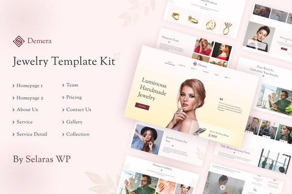 Demera   Jewelry Elementor Template Kit - Fashion & Beauty Elementor