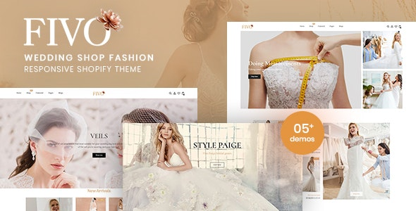 Fivo - Wedding Shop Fashion Responsive Shopify Theme - Shopify eCommerce