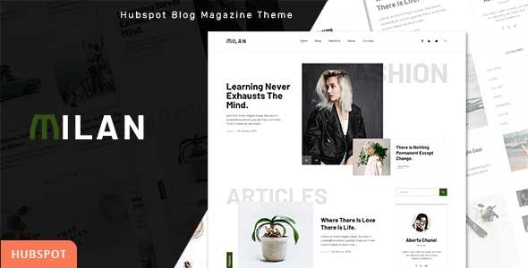 Milan - Blog and Magazine HubSpot Theme