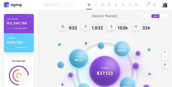 Ageng - Big Data Visualization Admin Template Figma