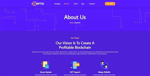 Criptix - Cryptocurrency Blockchain & Bitcoin Elementor Template Kit