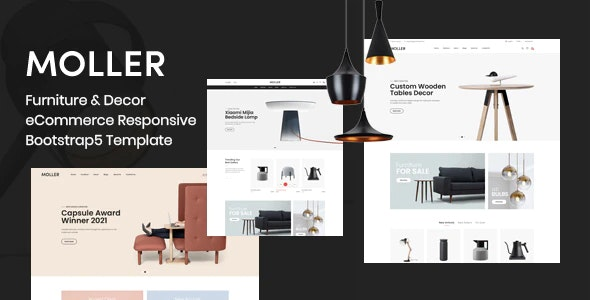 Moller - Furniture & Decor eCommerce Responsive Bootstrap5 Template - Shopping Retail