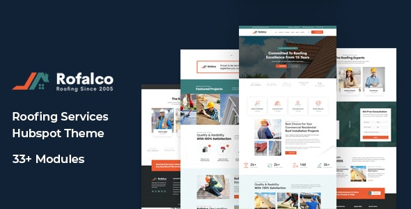 Rofalco - Roofing Services HubSpot Theme - Corporate HubSpot CMS Hub