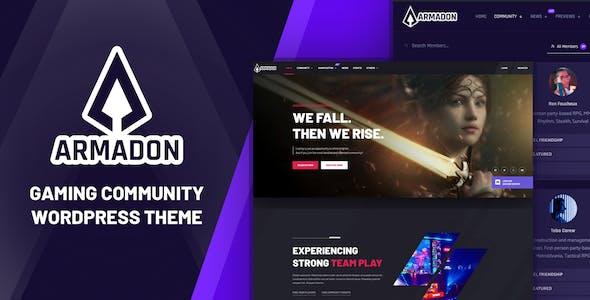 Armadon - Gaming Community WordPress Theme