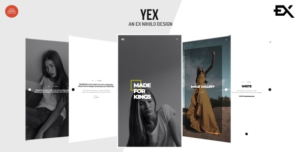 Yex - One Page Portfolio Template - Portfolio Creative