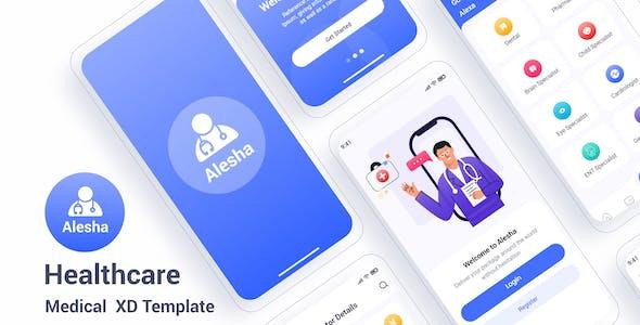 Alesha – Healthcare Medical Adobe XD Template