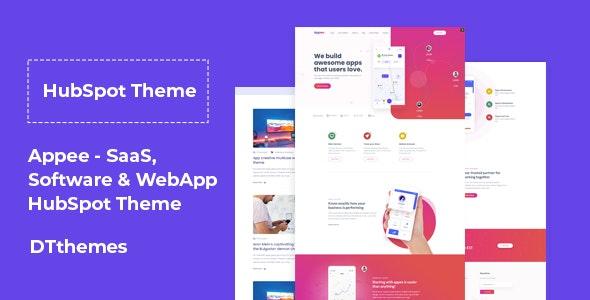 Appee - SaaS, Software & WebApp HubSpot Theme - Technology HubSpot CMS Hub