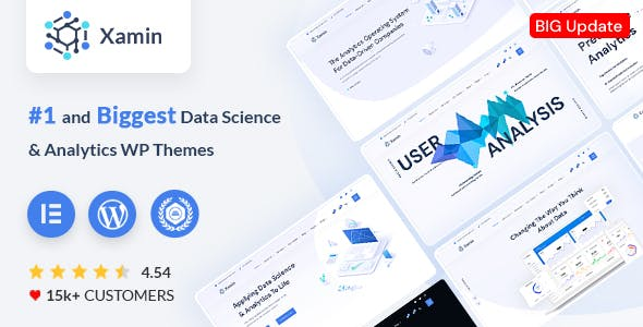 Xamin - Data Science & Analytics SaaS WordPress Theme