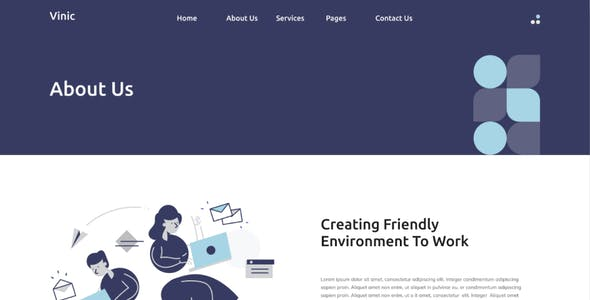 Vinic - Coworking Space Elementor Template Kit