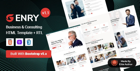 Enry - Business Consulting HTML Template - Business Corporate
