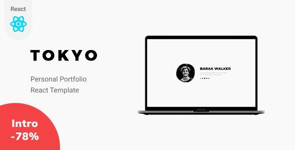 Tokyo - React Personal Portfolio Template - Virtual Business Card Personal