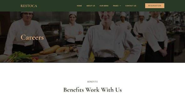 Restoca - Restaurant & Cafe Elementor Template Kit