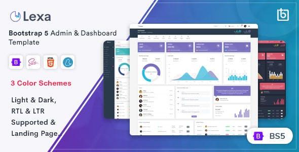 Lexa - Bootstrap 5 Admin & Dashboard Template