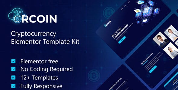 Crcoin - Cryptocurrency & Blockchain Technology Elementor Template Kit