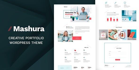 Mashura - Personal WordPress Theme