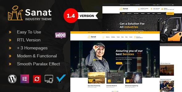 Sanat - Factory & Industry WordPress Theme - Business Corporate