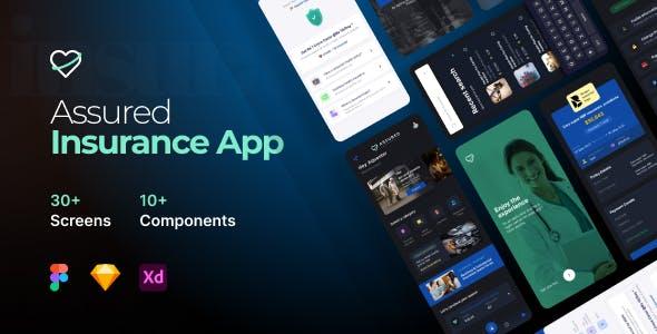 Assured | 30 Insurance Mobile App UI Kit template