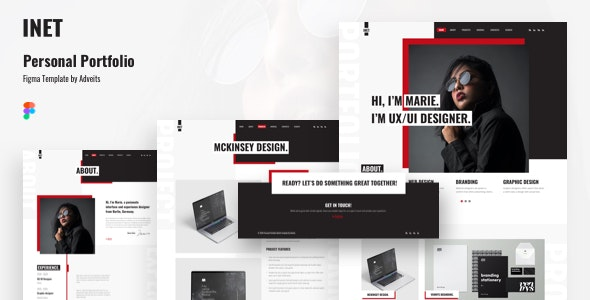 Inet - Personal Portfolio Figma Template - Portfolio Creative