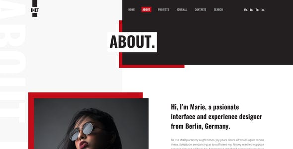 Inet - Personal Portfolio Figma Template