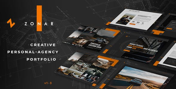 Zonar - Creative  Responsive Personal Agency Portfolio