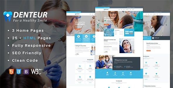 Denteur - Responsive Dental & Medical HTML Template