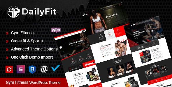DailyFit - Fitness and Gym WordPress Theme