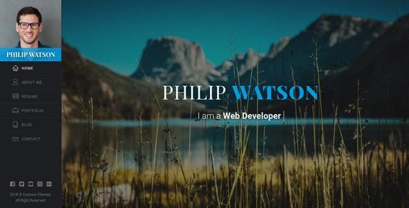 Watson CV/Resume Template - Virtual Business Card Personal