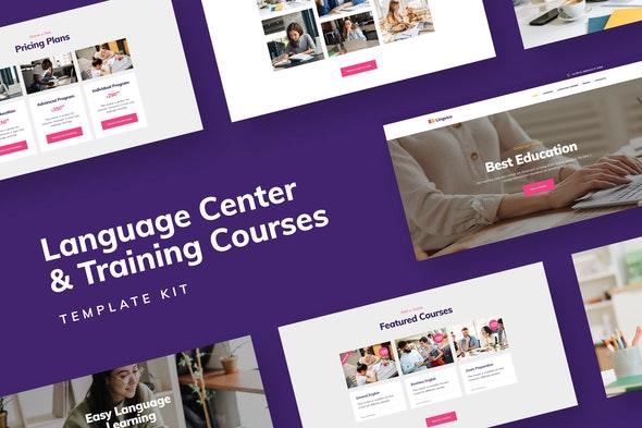Distance Education - Language Center & Training Courses Template Kit - Education Elementor