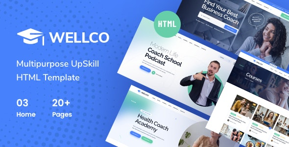 Wellco v1.0 – Life Coach and Online Courses HTML Template