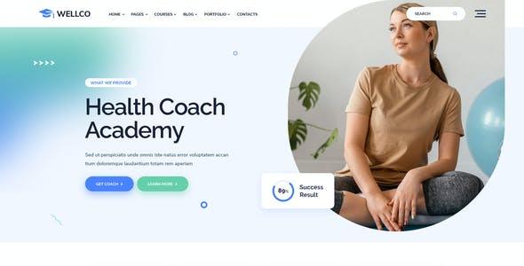 Wellco - Life Coach and Online Courses HTML Template
