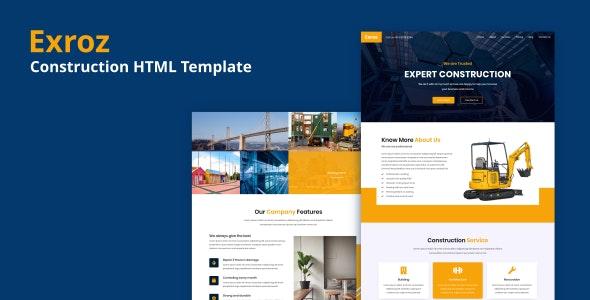 Exroz - Construction HTML Template - Corporate Site Templates