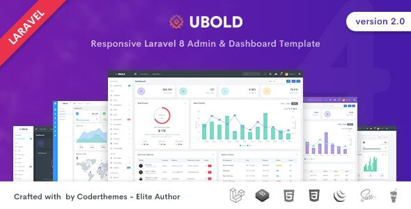 Ubold - Laravel 8 Admin & Dashboard Template - Admin Templates Site Templates