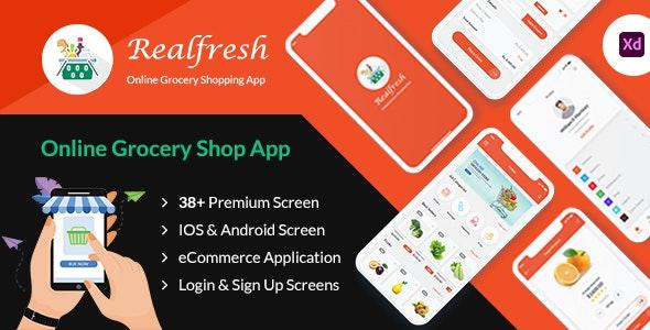 Realfresh - adobe XD mobile application - Food Retail