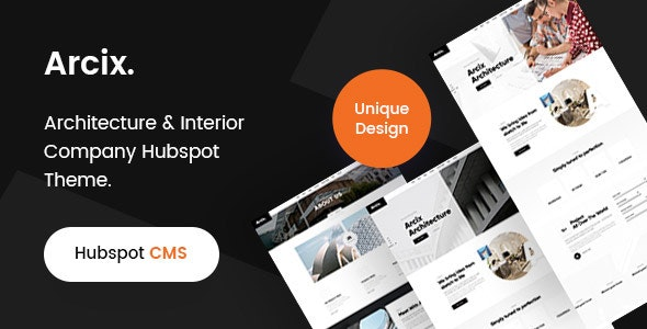 Arcix -Architecture HubSpot theme - Corporate HubSpot CMS Hub