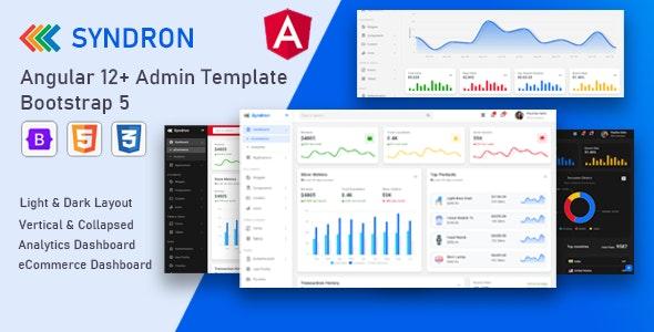 Syndron - Angular 12+ Bootstrap 5 Admin Template - Admin Templates Site Templates