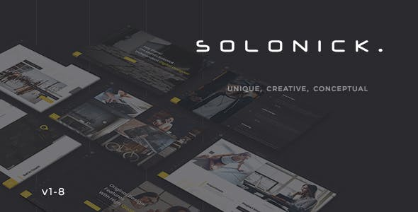 Solonick - Creative Responsive Personal Portfolio