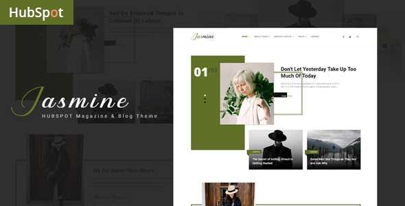 Jasmine - Blog and Magazine HubSpot Theme - Corporate HubSpot CMS