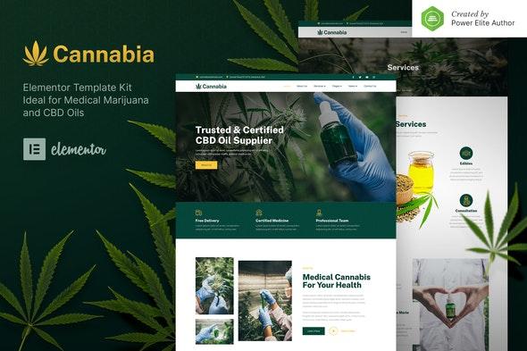 Cannabia – Medical Marijuana & CBD Oil Elementor Template Kit - Health & Medical Elementor