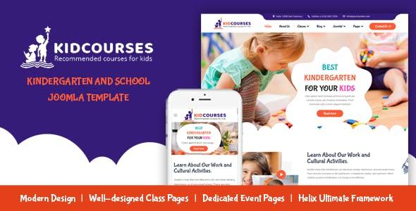 KidCourses - Creative Kindergarten & School Joomla Template