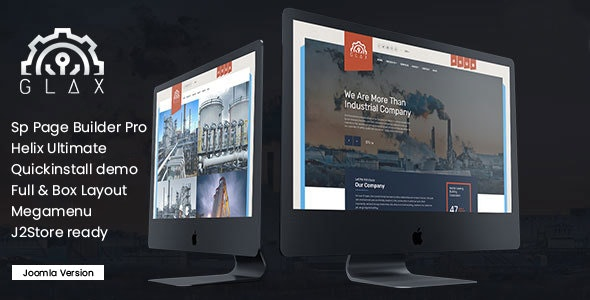Glax | Industry Joomla Template With Page Builder - Business Corporate