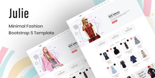 Julie – Minimal Fashion Bootstrap 5 Template - Fashion Retail
