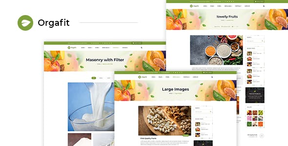 OrgaFit - Organic and Health WordPress Theme