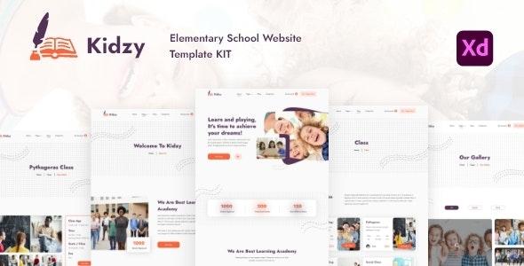 Kidzy - Elementary School Website Template Kit - Children Retail