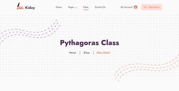 Kidzy - Elementary School Website Template Kit