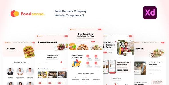 FoodSense - Food delivery website template kit - Food Retail