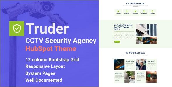 Truder - CCTV Security Service HubSpot Theme - Corporate HubSpot CMS