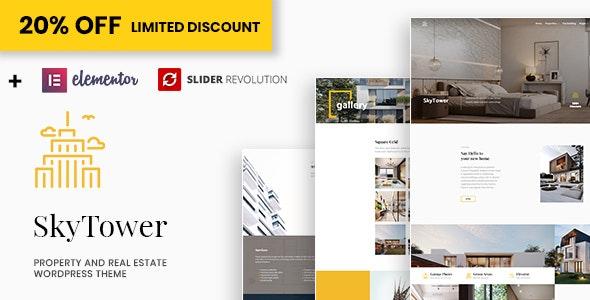 SkyTower - Real Estate and Construction WordPress Theme - Real Estate WordPress