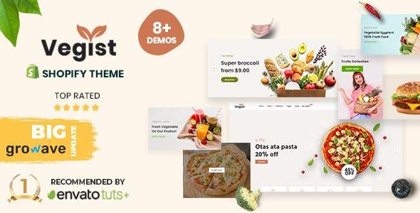 Vegist - The  Vegetables, Supermarket & Organic Food eCommerce Shopify Theme