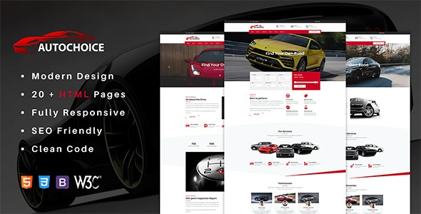 Autochoice - Premium Car & Dealer HTML Template - Business Corporate