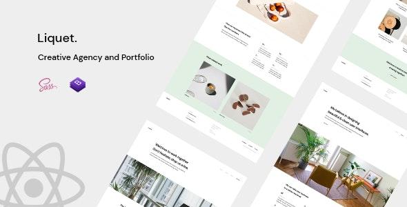 Liquet ― React Creative/Portfolio Template - Creative Site Templates